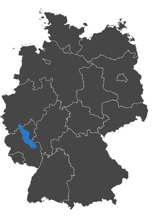 deutschlands wein region - grafik wein anbau region mittelrhein