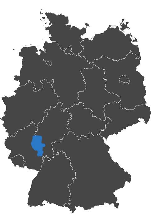 deutschlands wein region - grafik wein anbau region rheinhessen