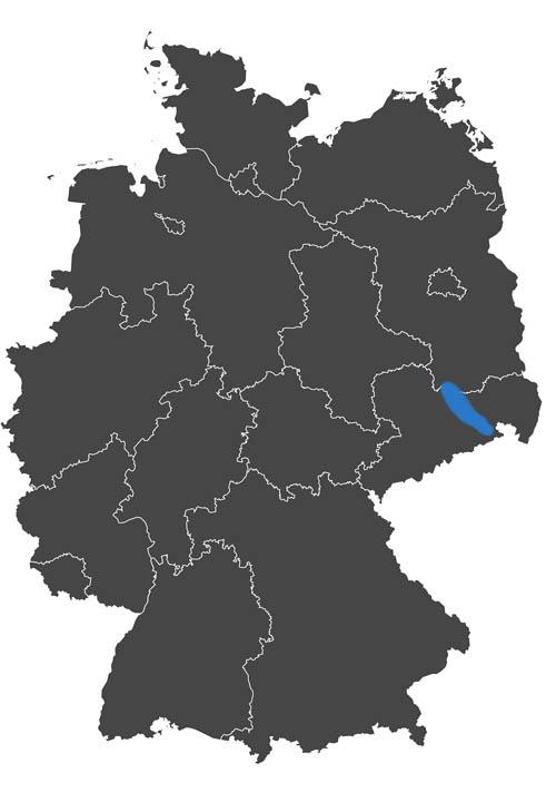 deutschlands wein region - grafik wein anbau region sachsen