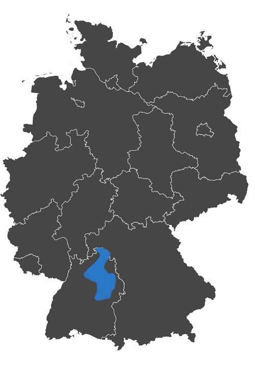 deutschlands wein region - grafik wein anbau region württemberg