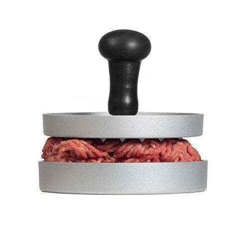 GOURMEO Burgerpresse aus Aluguss mit Antihaftbeschichtung und 30 Blatt Antihaftpapier | mit 2 Jahren Zufriedenheitsgarantie | Hamburgerpresse, Hamburger-Presse, Burger Maker -