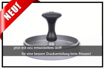 GRÄWE® Hamburgerpressen-Set - jetzt mit neuem Komfortgriff und 25 Blatt Backpapier -