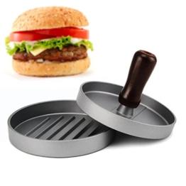 Hamburgerpresse, Allezola Premium Hamburger Presse Burger Hersteller für perfekte Burger, BBQ, Hamburger, Patties, Presse, Grill aus Aluguss -