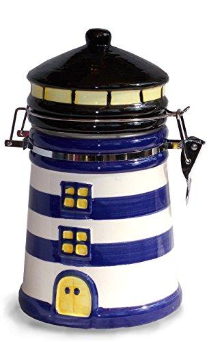 Kaffeedose Leuchtturm blau -
